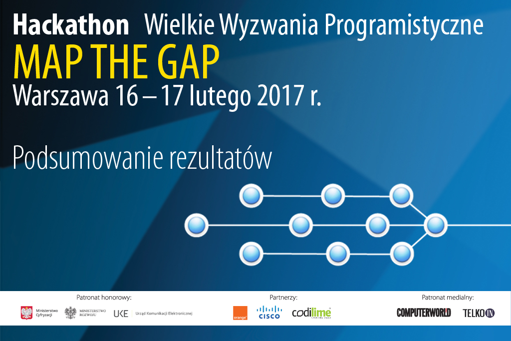 Rezultaty hackathonu Map the Gap