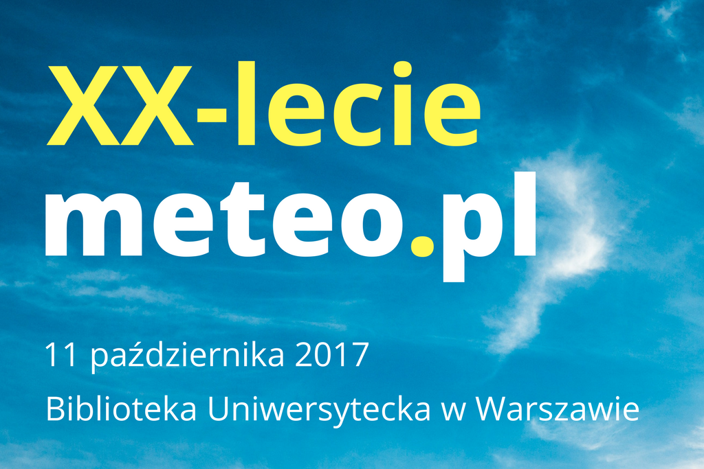 Ikona wpisu Konferencja podsumuje 20 lat meteo.pl