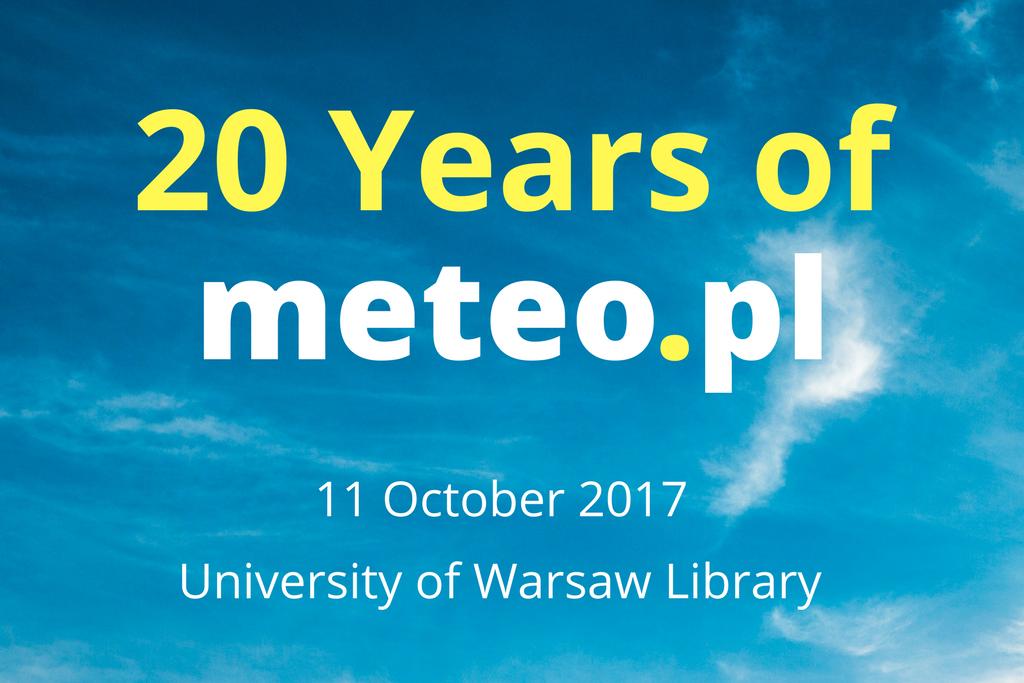 Meteo.pl 20th Anniversary