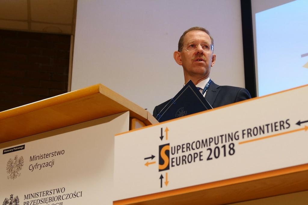 Rektor UW prof. Marcin Pałys otwiera konferencję Supercomputing Frontiers Europe 2018