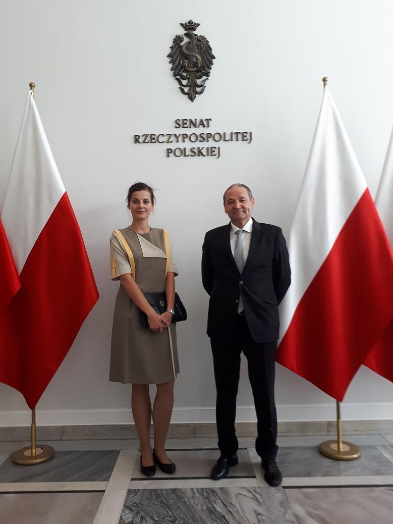 Dominika Czerniawska Marek Michalewicz Forum Nauki Polskiej poza Granicami Kraju 21.09.2018 Senat RP