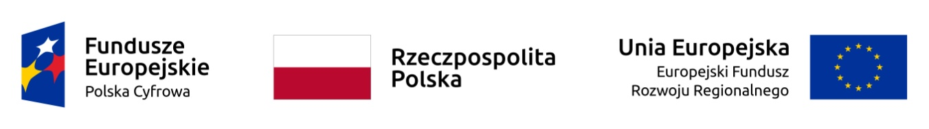 Logotypy Fundusze Europejskie Polska Cyfrowa, flaga polski, flaga UE