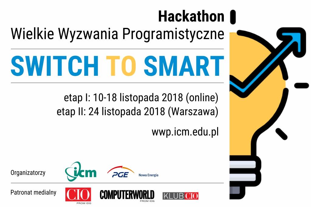 """""""Switch to Smart"""" – wspólny hackathon ICM UW i PGE na rzecz inteligentnego zarządzania energią"""